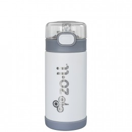 ZoLi POW SQUEAK Vacuum Insulated Straw Drink Bottle - White