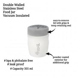 ZoLi POW DINE Stainless Steel Insulated Food Jar - White