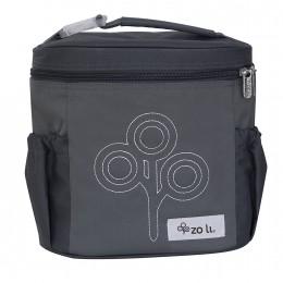 ZoLi NOM NOM Insulated Lunch Bag - Grey