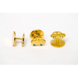 Silver kurta buttons - Car gold finish