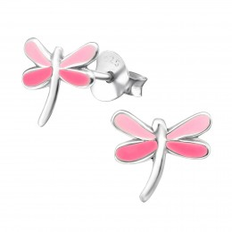 Light Pink And Hot Pink Dragonfly Earrings