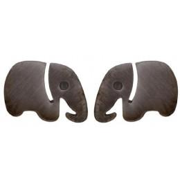 Enamelled Studs Earrings - Elephant