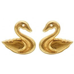 Gold Plated Studs Earrings- Ducklings (Gold Plated)