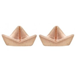Gold Plated Studs Earrings - Boat