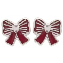 Enamelled Studs Earrings - Bows