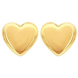 Gold Plated Studs Earrings - Hearts