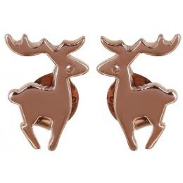 Gold Plated Studs Earrings - Deer
