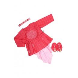 Girls jamna set - Pink