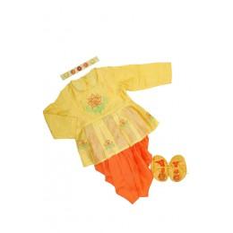 Girls jamna set - Yellow