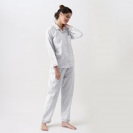Women jade blockprint pajama set (Grey)