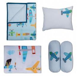 Just Plane Cute Cot Bedding Set