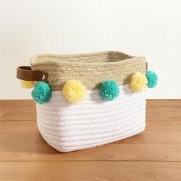 Jute & Cotton Rope Storage Basket - Elephant