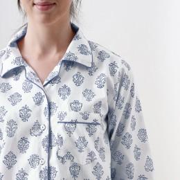 Women madison blockprint pajama set (Indigo)