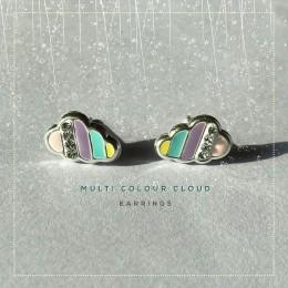 Multi Colour Cloud Earring