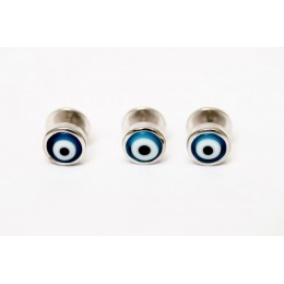 Silver kurta buttons - Turkish evil eye