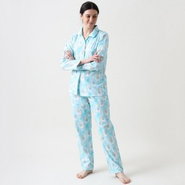 Women organic llama love pajama set