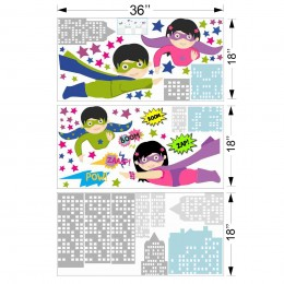 Superkids Wall Stickers