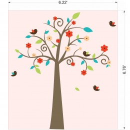 Swirly Tree Wall Stickers