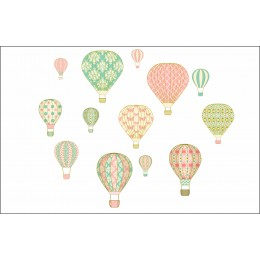 Vintage Hot Air Balloons Wall Stickers