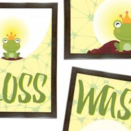 The Frog Prince Washroom Frames