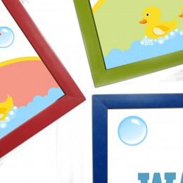 Yellow Duckies Washroom Frames