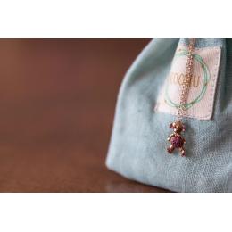Pure Gold & Ruby Teddy Bear Pendant(Ruby)