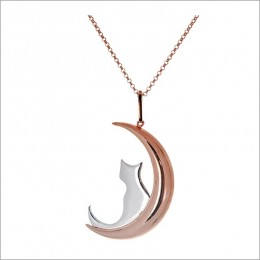Adorable Cat Pendant In Sterling Silver