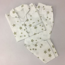Grey Stars Pajama Set