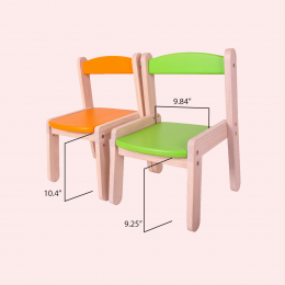 Wooden Stacking Chair - Pure Pink
