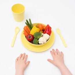 5 Piece Children's Bamboo Dinner Set -Sunshine Yellow