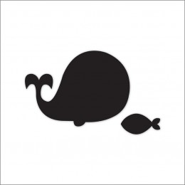 Meal Time Shaped Chalkboard Mat & Coaster - Whale