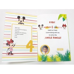 Mickey & Minnie Jungle Bungle With Stickers Book - Personalized