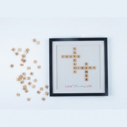 Intertwined Family Scrabble Frame