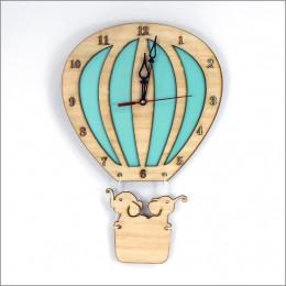 Hot Air Balloon Clock - Teal