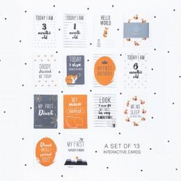 The Fox Milestone Cards - Set of 13