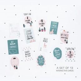 The Cactus & Llama Milestone Cards - Set of 13