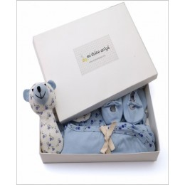 Organic Cotton Gift Set Pack of 6 - Blue
