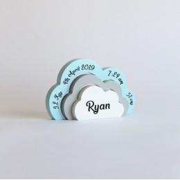 Birth Statistics Clouds - Blue