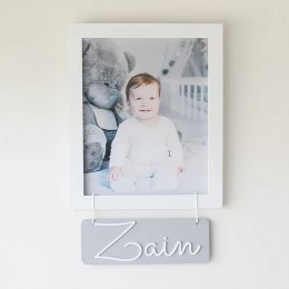 Personalized Name Frame - Grey