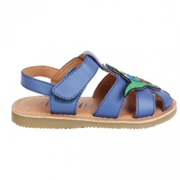 Blue Dino Applique Fisherman Sandal
