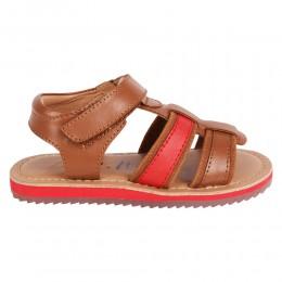 Cognac Crab Velcro Sandal
