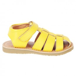 Yellow Sandy Velcro Fisherman Sandal