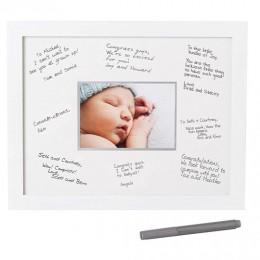 Milestone Signature Frame - White