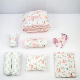 Welcome Home- Organic Crib Gift Hamper - Unicorn