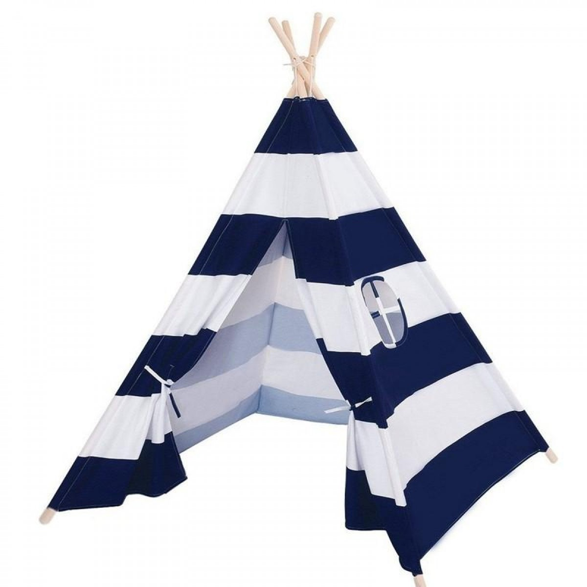 Teepee Tent - Blue and white striped