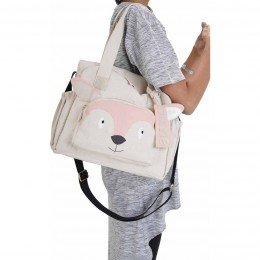 Organic Fox Diaper Bag - Personalized