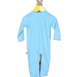 Blue, Elephant Applique Sleep Suit