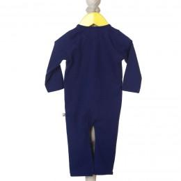 Navy, Cute Applique Sleep Suit