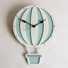 Hot Air Balloon Clock - Blue