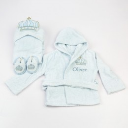 Spa Time New Born Gift Set (Prince) - With Hooded Towel